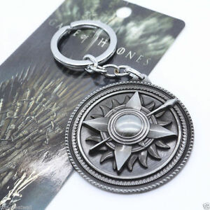 Silver-HBO-Game-of-Thrones-House-Martell-Pendant-Metal-Keyring-Keychain