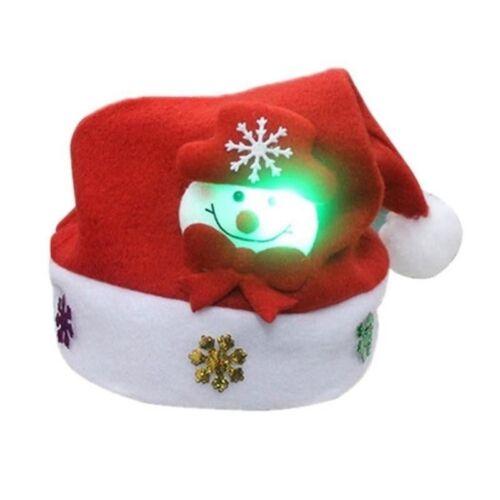 New Xmas Kids /& Adults /& LED Christmas Hat Santa Claus Reindeer Snowman Gift Cap