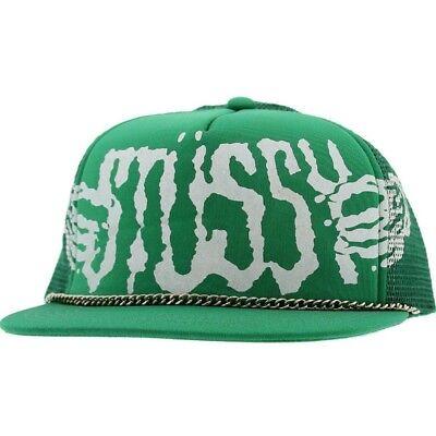 Stussy Reggae Sun Snapback Cap green