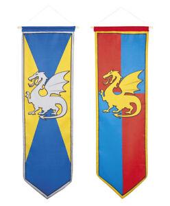 Chevaliers-et-dragons-decoration-suspendre-banniere-anniversaire-medievale-fete