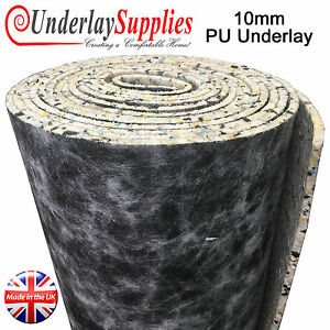 Details about 10mm PU Carpet Underlay Rolls UK Manufactured Quality Luxury Feel Best Cushion