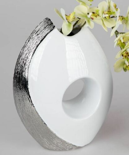701886 Vase With Hole 15 X 19cm Design Designer Vase From Glazed