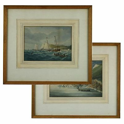 Pearson Package 2 Signed Original White Cliffs Dover Victorian Antique Paintings