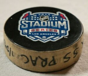 2014-NHL-Stadium-Series-Los-Angeles-Kings-Practice-Puck-Anaheim-Ducks-Game-Used