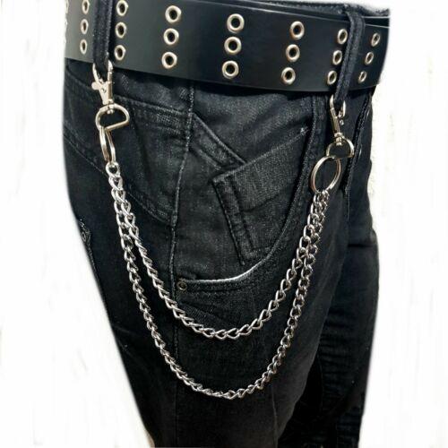 2 reihige maillons chaîne pantalon chaîne Biker chaîne porte-monnaie Chaîne Ceinture Chaîne Bague