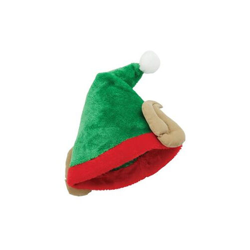 PLUSH ELF HAT WITH EARS CHRISTMAS XMAS OFFICE PARTY SANTAS LITTLE HELPER