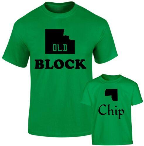 Ancien bloc et Chip Bloc Père Fils Fille Famille assorti T Shirts