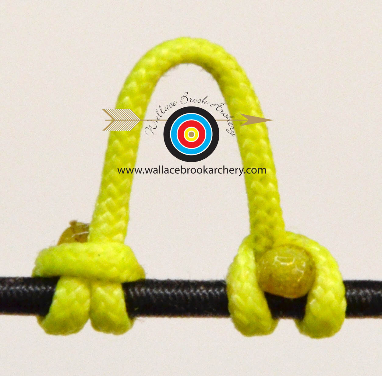 BCY #24 Speckled  Flo Green//Black  Archery Release Bow String D Loop 5 Pack