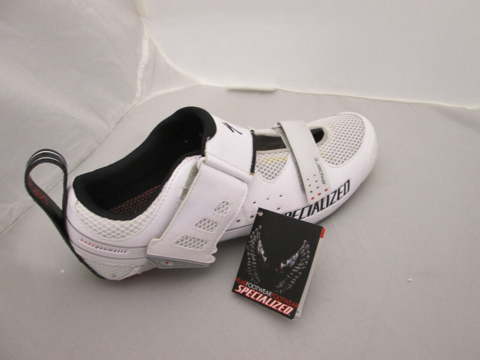 Specialized Trivent Expert Cycling schuhe Weiß rot RIGHT schuhe ONLY - EU 45.5 NEW