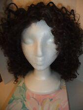 Beautiful Natural Look  Brown Curly Full Hair Wig Japan Origin Kanekalon Fiber.