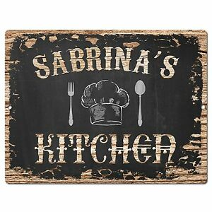 Pp2143 Sabrina S Kitchen Plate Chic Sign Home Kitchen Decor Birthday Gift Ebay