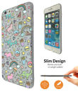 C330 Unicorn Dinosaur fries pizza Case Slim Cover For Samsung iphone Sony Huawei