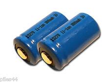 2 Piles CR2 15270 Rechargeable li-ion 800mah 3V accus Batterie Accu Pile Battery