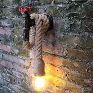 Vintage LED Wandleuchte Industrial Art Steampunk Wandlampe Küche Wohnzimmer