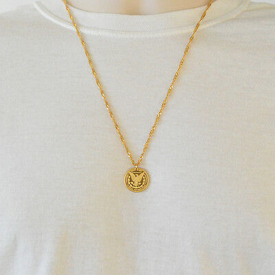 1//4 oz Details about  /Morgan Gold Coin Necklace Pendant Men Women 24k Gold Plated Jewelry