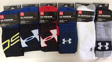 Under Armour U732-BLK//WHT-MD Men/'s Black Heat Gear Boot Socks Size 9-11