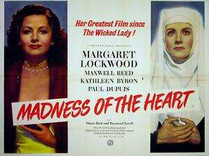 MADNESS-OF-THE-HEART-1949-Margaret-Lockwood-Kathleen-Byron-Maxwell-Reed-UK-QUAD
