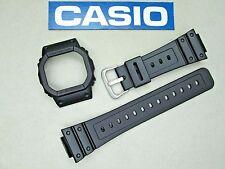 Genuine Casio G-Shock DW-5600BB watch band bezel black rubber resin