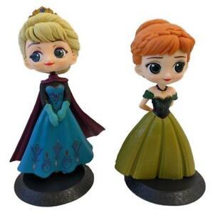 Disney-Princess-Q-Posket-Figures-Set-of-2-Frozen-Coronation-Anna-amp-Elsa-B