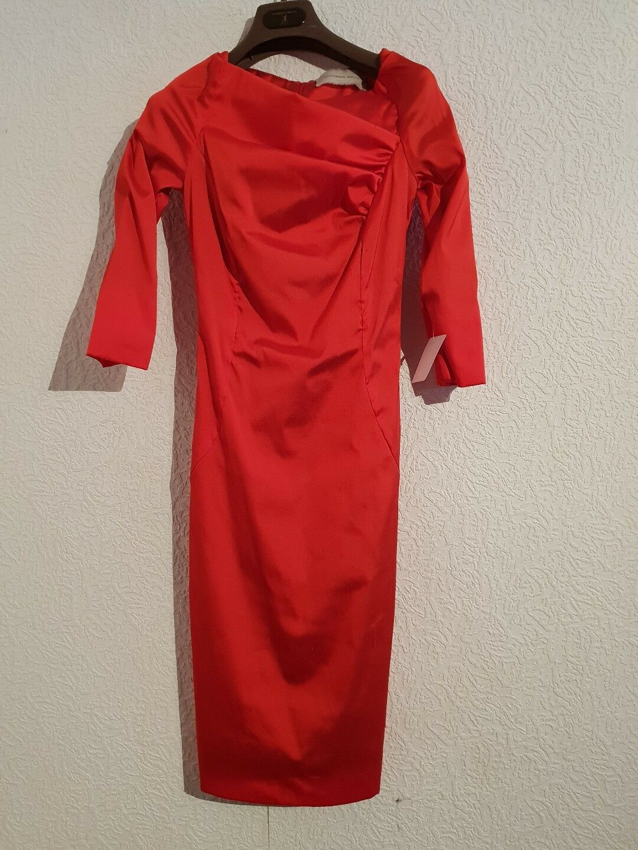 THOMAS RATH Kleid Mod.Burkina red Gr.34 Neu mit Etikett