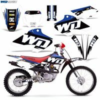 Decal Graphics For Honda Xr80-xr100 Dirtbike Mx Wrap Motocross Deco 01-03 Wd Blu