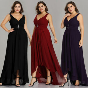 Christmas Ball Gowns Plus Size.Details About Us Plus Size High Low Long Evening Dresses Cocktail Gown Christmas Proms 09983