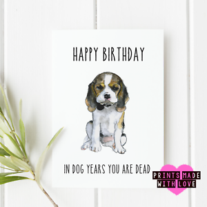 Image Is Loading Funny Birthday Card In Dog Years You Are