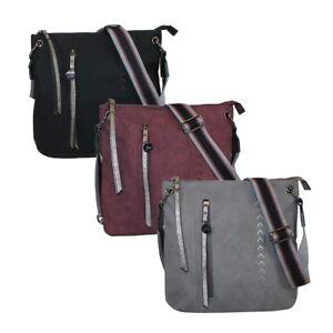Details zu Glüxklee Damen Umhängetasche Handtasche Tasche mittelgroß Trendstyle GX0