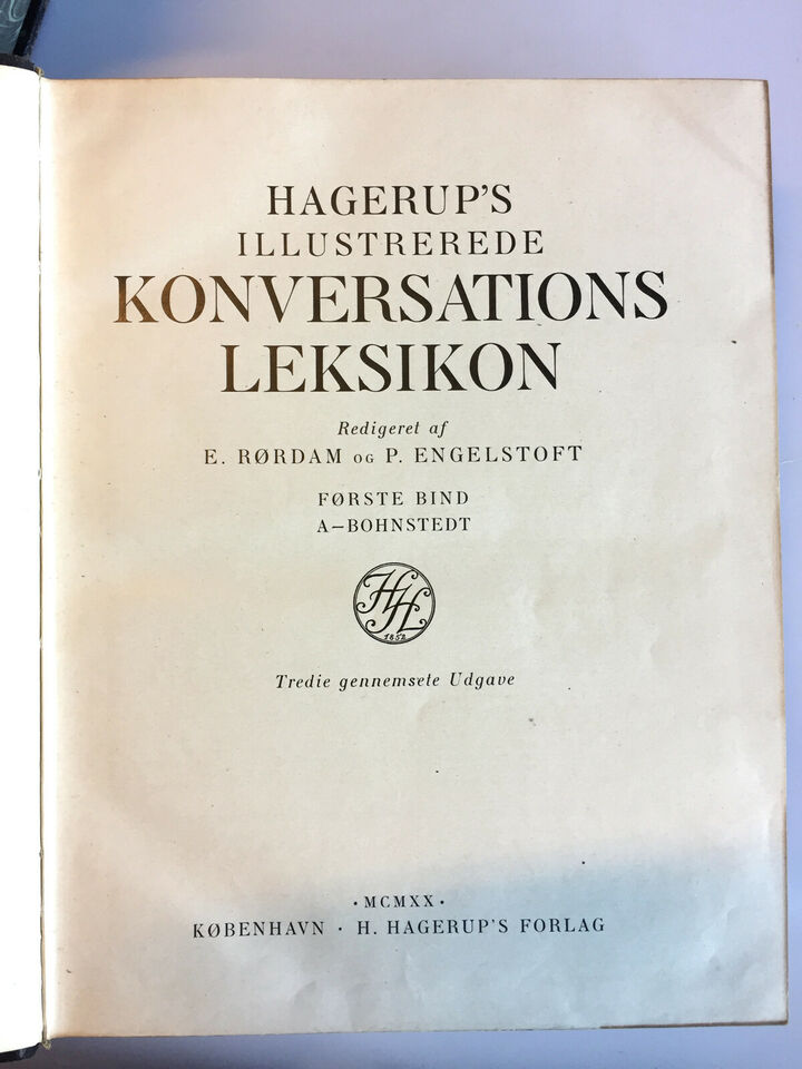Hagerups Illustrerede Konversations Leksikon -...
