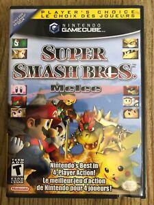 Super-Smash-Bros-Melee-Nintendo-Gamecube-Complete-W-box-amp-Manual