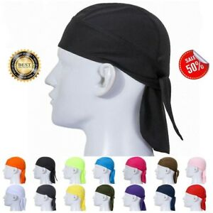 Details about Newest Fitted Tied Mens Womens Pure Color Hat Biker  Motorcycle Bandana Head Wrap 6c6ea5cb87e