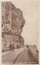 LLANDUDNO - NOSE OF GREAT ORME WITH PEOPLE POSING, LOVELY REAL PHOTO BY THOMPSON