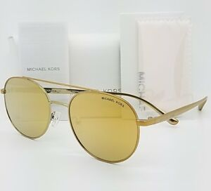 afeaa9679 New Michael Kors Lon sunglasses MK1021 11687P Gold Mirror Round 1021 ...
