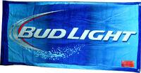 Bud Light 100% Cotton Beach Towel 30 X 60 Brand Velour Beach Towel Bud