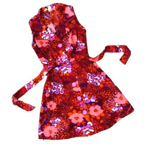 Vintage MOD 1960s Mini Dress Floral Size XS Women'