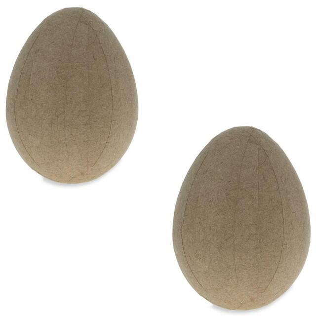 Set of 2 Paper Mache Egg 4 Inches
