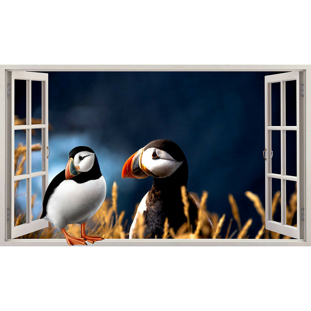 Wall Stickers Puffin Bird Cool Field Living  Bedroom Girls Boys Living Room F813
