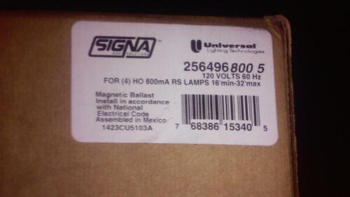 New Signa Universal Lighting Technologies 256496 800 5 120 Volts 60 HZ Ballast
