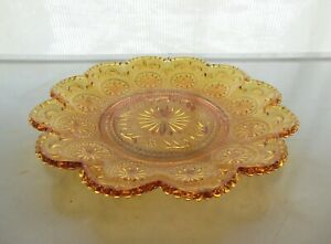 Brockway-Glass-Amber-American-Concord-Sandwich-7-1-2-034-Salad-Plate
