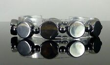 MAGNETIC HEMATITE BRACELET SUPER STRONG ARTHRITIS PAIN RELIEF THERAPY