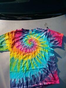3d228935 Hand Dyed by Sundog Tie Dye T-Shirt Spiral Design Multicolor Mens XL ...