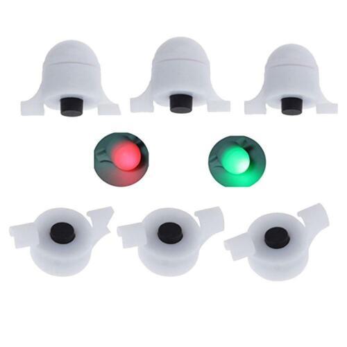 3pcs LED Night Fishing Rod Tip Clip on Fish Strike Bite Alert Alarm Light d d
