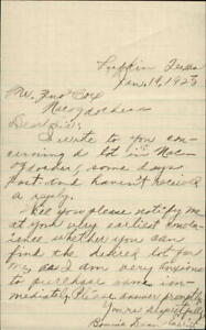 1925 Nacogdoches Texas (TX) Letter To: Mr. Zeno Cox From: Bonnie Dean Emerit