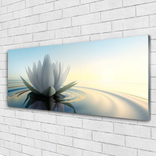 Glasbilder Wandbild Druck auf Glas 125x50 Blume Wasser Kunst
