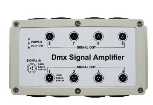 1 Channel Input 8 Channel Output DMX DMX512 LED Controller Signal Amplifier