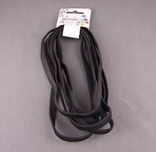 Black set pack 6 stretch elastic sport headband no metal hair band 3/8 inch wide
