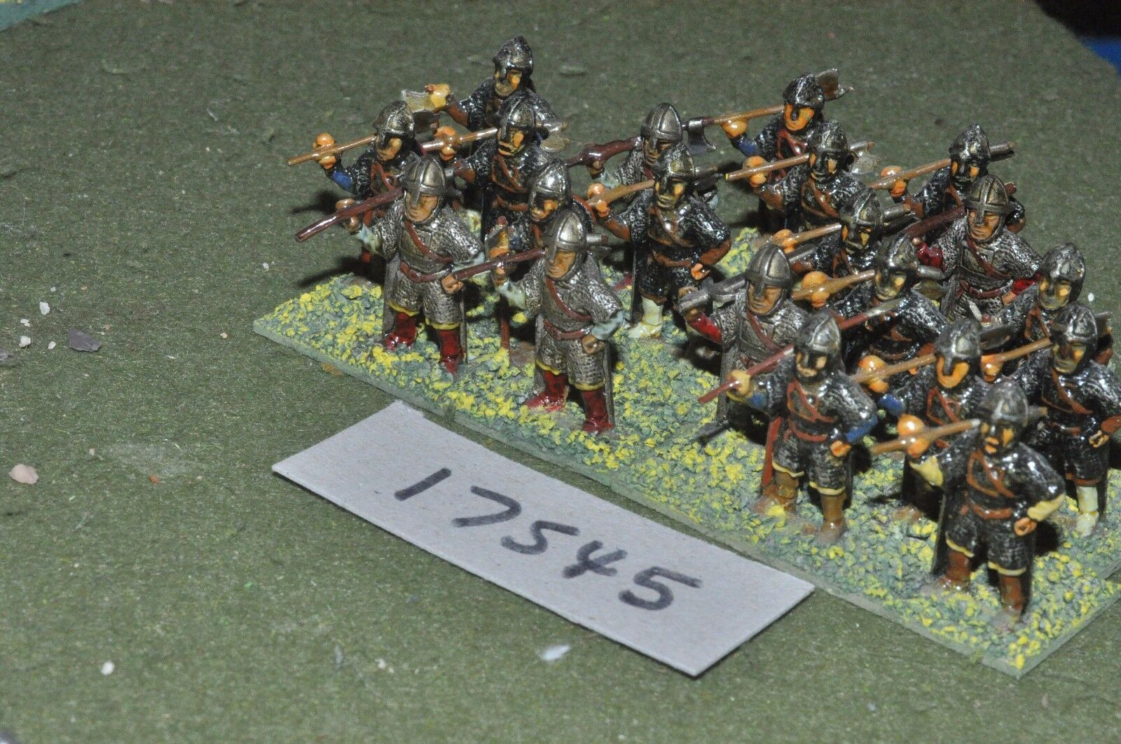 25mm medieval   norman - infantry 20 figs - inf (17545)