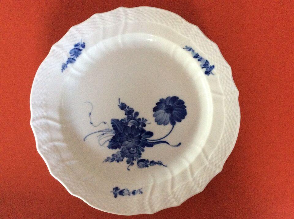 Porcelæn, Blå Blomst fad, Royal Copenhagen