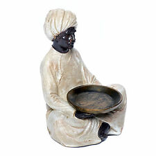Figur Inder Mann mit Tablett Teelicht Deko Edel orientalisch Schale exotisch neu