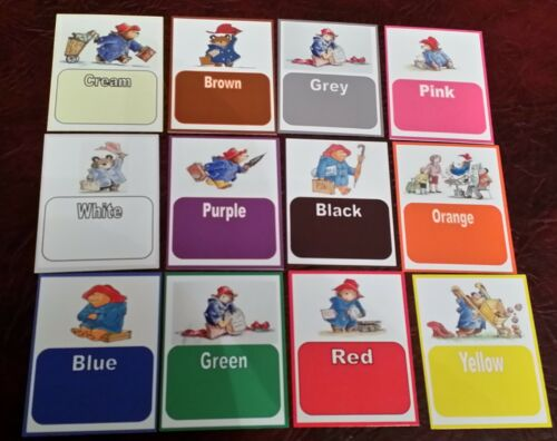 Paddington Bear Números//Alfabeto//cores//formas eyfs Class tópico Ama